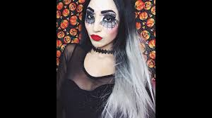 Gypsy Makeup Tutorial Halloween by Heahair Ombre Grey Synthetic Lace Front Wig For Spider Eyes