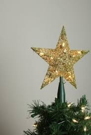 Star Christmas Tree Toppers Lighted - gold tree toppers foter
