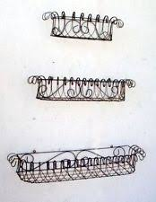 Wrought Iron Wall Planters by Baskets Pots U0026 Window Boxes In Material Metal Color Blue Ebay