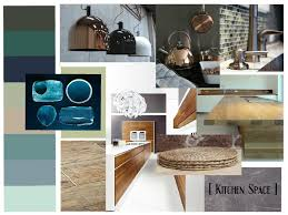 kitchen space mood board aqua teal green colors combined with