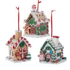 kurt adler halloween pack of 6 gingerbread kisses led lighted candy house christmas