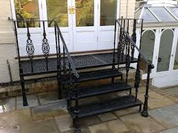 Wrought Iron Patio Doors by Stairs Extraordinary Handrails For Steps Handrails For Steps