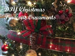 diy christmas tree pinecone ornament tutorial youtube
