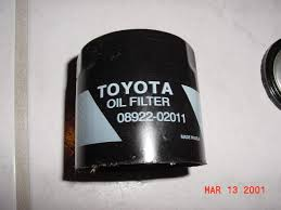 lexus v8 oil capacity toyota oil filters u2013 toyota 90915 20004 vs toyota 08922 02011 vs