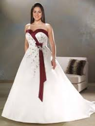 two color wedding dress how to choose wedding dresses with color to flatter your figure