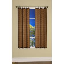 kitchen window drapes woven woods roman shades bamboo patio door