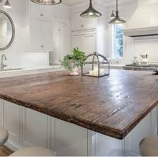Kitchen Countertop Designs Best 25 Reclaimed Wood Countertop Ideas On Pinterest Copper