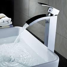Sumerain Waterfall Faucet Sumerain S1262cw Waterfall Bathroom Sink Faucet Modern Waterfall