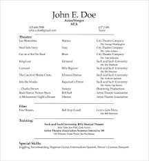 resume template student free acting resume template student word collaborativenation