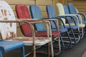 Metal Patio Chair Cozy Ideas Vintage Metal Chairs Vintage 1940s 1950s Metal Lawn