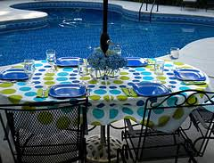 Oval Wrought Iron Patio Table Swimming Pool Furniture Comfortable And Easy Maintenance