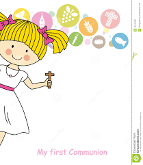 First Communion Invitations Cards First Communion Stock Vector Image 40447562