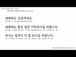 how to wish a happy new year in korean by talktomeinkorean