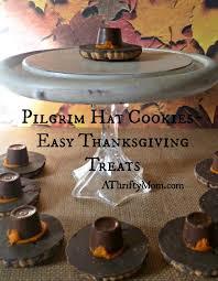pilgrim hat cookies easy thanksgiving treat