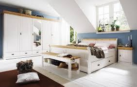 Schlafzimmer Set 140x200 Schubladenbett Bett 140x200 Weiß Gelaugt Holz Kiefer Neapel