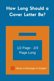 14 answers how long should a cover letter be quora
