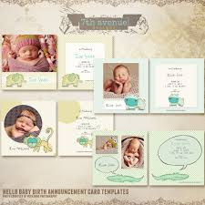 hello baby birth announcement card templates cards hellobabybac