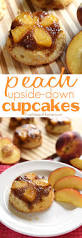 peach upside down cupcakes