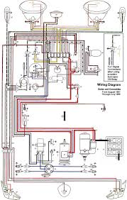 wiring diagram vw beetle sedan and convertible 1961 1965 vw