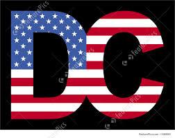 Washington Dc Flag Washington Dc Text With Flag Stock Illustration I1569865 At