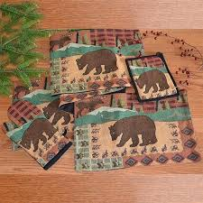 moose patch placemats and table runners cabin place