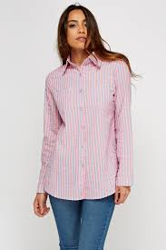 textured striped shirt neon pink grey or neon lime grey just 5