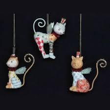 gisela graham set of 3 resin circus cat tree
