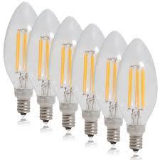 Led Light Bulbs 2700k by Dimmable Clear Filament Led Candelabra Bulbs Edison Candle Bulbs