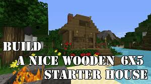 minecraft build a simple beautiful wooden starter house youtube