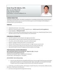 sample resume for cpa certified public cover letter example sample
