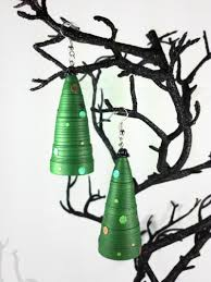 funky christmas tree earrings paper quilling sweethearts and crafts