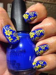 yellow and royal blue nails nails pinterest royal blue nails