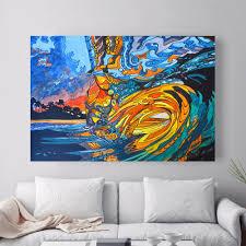 aliexpress com buy abstract hawaii surf artwork canvas art print