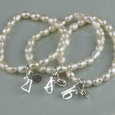 birthday charm bracelet personalised freshwater pearl birthday charm bracelet by nest