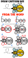 how to draw a thanksgiving turkey step by step learn how to draw cartoon bee from the word