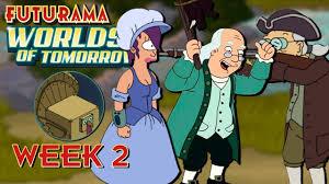benjamin franklin and week 2 kc plays futurama worlds of