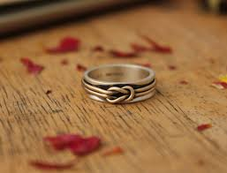 what is a knot ring knot ring in sterling silver and 14k gold his hers rings