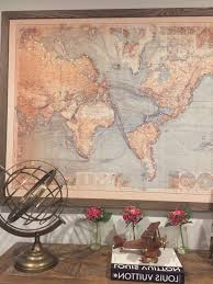 Wall Art World Map by World Map Wall Art With Fairy Lights Sissoni