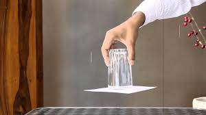 upside down glass of water cool science experiment mocomi kids