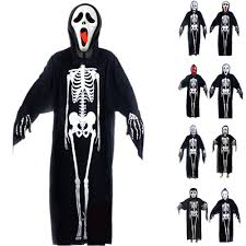 Skeleton Halloween Costume For Kids Skeleton Ghost Zombie Cloak Robe Halloween Wear Kids