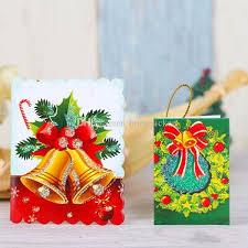 christmas cards printed xmas ornaments wishing card 7x5 5cm sweet