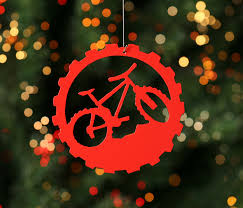 mountain bike bicycle tree ornament 6 50 via etsy