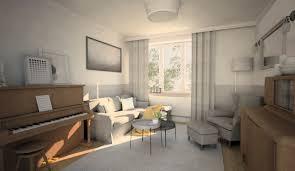 Classic Livingroom White Classic Livingroom Interior In Gdansk Poland Interiors