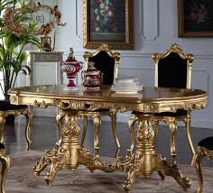 Baroque Dining Table 1 8 Meter European Dining Table Gilding Baroque Furniture