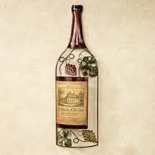 Wine Bottle Home Decor Vineyards Finest Wine Bottle Metal Wall Art