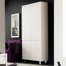 Wohnzimmerm El Creme Hochglanz Garderobenschränke In Weiß Und Hochglanz Weiß Wohnen De