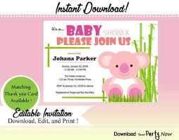 Panda Baby Shower Invitations - 27 best under the sea baby shower invitation images on pinterest