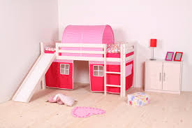 Bunk Beds Pink Apartments Low Loft Bed Slide Curtains And Cave Bunk Beds