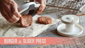 burger u0026 slider press pampered chef youtube