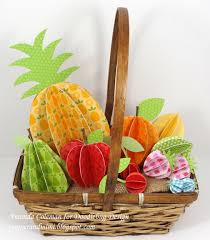 fruit in a basket popper and mimi 3d paper fruit in a basket